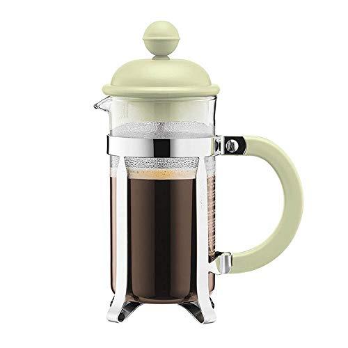 Glazen espressomachine, handgemaakt, voor koffiezetapparaat, handgemaakt, koffieset, theepot, draagbaar, filter, thee, Frans, pan, koffiezetapparaat. 350ml Groen