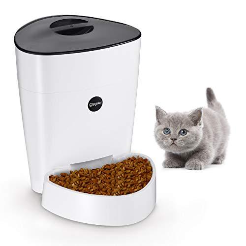 isYoung Automatisierte Futterspender 4L für Katze & Hunde Programmierbarem Fütterungsautomat Pet Feeder mit Timer, LCD Bildschirm und Ton-Aufnahmefunktion