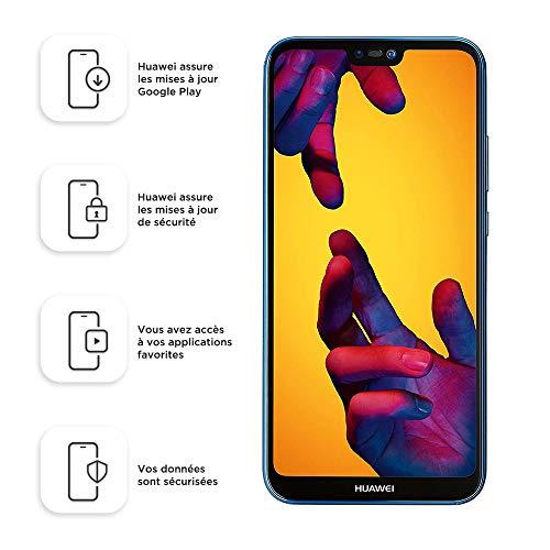 Huawei P20 Lite Smartphone débloqué 4G (5,84 pouces 64 Go/4 Go Double NanoSIM Android) Bleu [Version européenne]