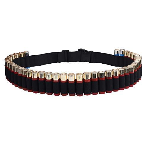 Cinturón Hombro Concha de Escopeta, 50 Rondas Cinturón de Munición Bandolera Táctica Proyectil Militar Cartuchos de Escopeta para 12 / 20GA