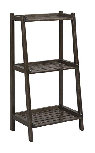 New Ridge Home Goods Dunnsville 3-Tier Ladder Shelf, Espresso