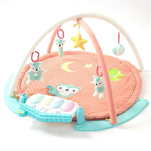Alfombras de Juego y Gimnasios piso Bebé Baby Play Mat Fitness Marco Baby Music Toy Pie Piano Crawling Mat Caja de regalo Juguetes Educativos para Niños pequeños ( Color : Pink , Size : 90x90x55cm )