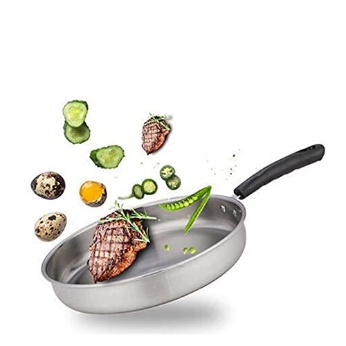 Yinyimei sarten Antiadherente Pan de mármol de Piedra Antiadherente con Mango de plástico Resistente al Calor, Cacerola de Huevo de inducción de Granito, lavavajillas Seguro (Blatt-Größe : 27cm)