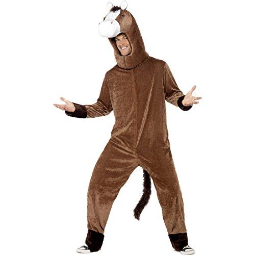 NET TOYS Pferd Kostüm Pferdekostüm Pferde Tierkostüm Ganzkörper Pferdkostüm Esel Plüschkostüm Lustiges Faschingskostüm Plüsch Karnevalskostüme Tier