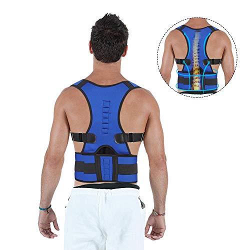 Haltungskorrektur & Rückenstütze für Herren, Schulterkorrektur, Stützbandage, Rückenstützgürtel, verbessert die Körperhaltung und bietet Lendenwirbelstütze bei Schmerzen im unteren oberen Rücken