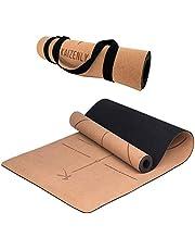 KAIZENLY Pro Milieuvriendelijke Yogamatte - Natuurlijke Kurk, Uitstekende Grip - Yoga Mat met Draagband - Voor Yoga, Pilates, Gymnastiek & Fitness - Non-slip Yogamat (183 x 61 x 0,5 cm)