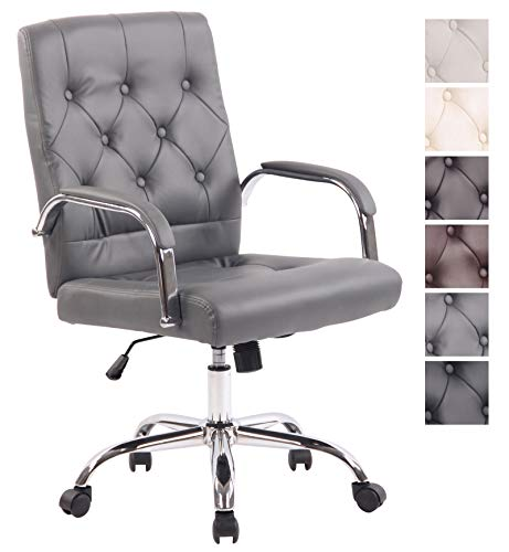 CLP Bürostuhl Leroy V2 mit Kunstlederbezug und hochwertiger Polsterung I Ergonomischer Drehstuhl...