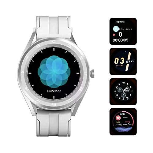 Btuty Reloj Inteligente SPO2 Monitoreo Reloj Inteligente Frecuencia cardíaca Presión Arterial Reloj Inteligente 1.54 Pulgadas Pantalla táctil Rastreador de Ejercicios Monitor de Salud Pulsera IP69