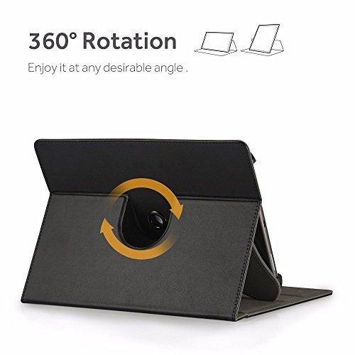 EasyAcc 360 Grad Drehung 10 Zoll Tablet Hülle für TOSCIDO 4G LTE/Qimaoo/FIGE/TYD/vankyo Tablet 10/Dragon Touch K10/CHUWI Hi10 X/Winnovo T10/ALLDOCUBE iPlay10/ACEPAD/Taoera/Victbing TECLAST,Schwarz