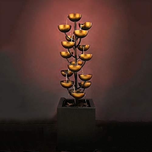 ZHQHYQHHX Decoración para el hogar Fuente Adornos Crafts hogar Creativo Accesorios Entrada Adornada de Agua es de 26 * 26 * 95cm Adornos