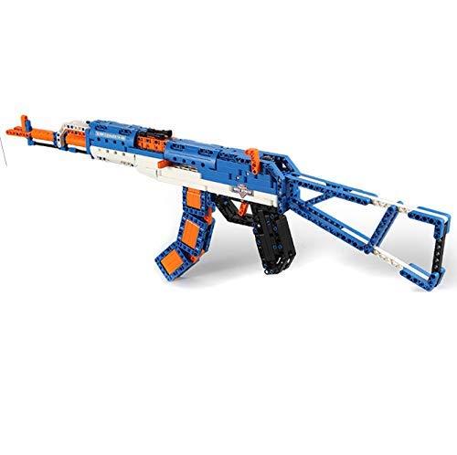 STEM Building Bricks AK-47 Rifle Toy Gun, DIY Assembled Building...