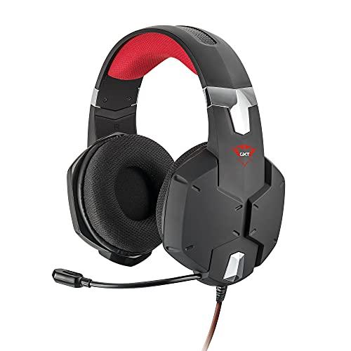 Trust Gaming GXT 322 Carus Auriculares Gamer con Micrófono Flexible y Diadema Ajustable, Cable de 1 m, para PS4, PS5, PC, Nintendo Switch, Xbox One, Xbox Series X - Negro