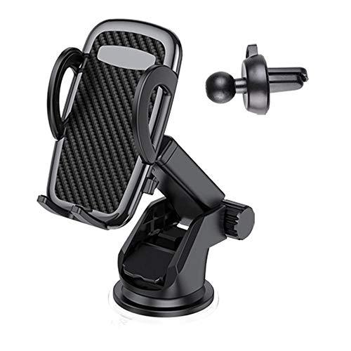 Soporte Móvil para Coche ,(3 in 1), 360 ° Rotación para Parabrisas/Salpicadero Soporte Móvil Télefono para Rejilla Aire Ventilación,(para 3.5 '' a 6 '')-(El Nuevo)
