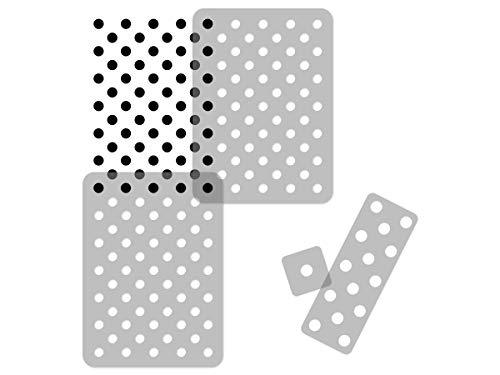 Geometrische Wiederverwendbare Wandschablone aus Kunststoff // 65x95cm // Polka Dot 5 // Nahtlos Repetitive Allover Muster Vorlage