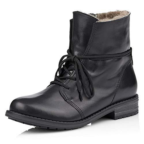 Remonte Damen R5072 Combat Boots, Schwarz (Schwarz/Schwarz 01), 37 EU