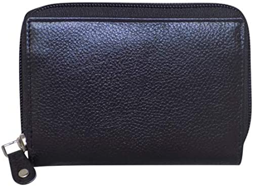 Leather Black Card Wallet Visiting Credit Card Holder Pan Card ID Card Holder Women