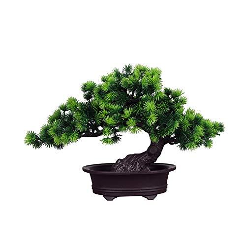 künstliche Bonsai Künstliche Bonsai-Baum Pflanzen Dekoration Kunstpflanze Pflanze,Japanischer Feng Shui Pinien,Feng Shui Lucky Deko,Kunstbaum,Höhe ca. 20 cm,GrüN