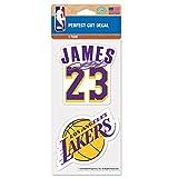 Originales NBA Los Angeles Lakers Aufkleber-Set Lebron James in 10 x 10 cm -