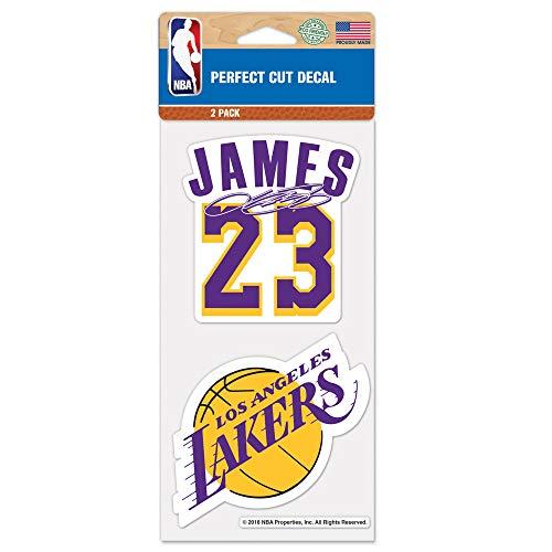 Set di adesivi originali NBA Los Angeles Lakers Lebron James in 10 x 10 cm