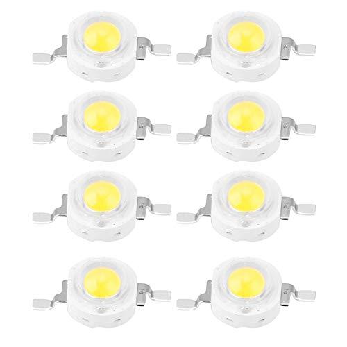 Bombilla LED Chip, 1 W Chip de Alta Potencia, 100PCS LED Chip de Bombilla para Foco de Proyector Bombilla de La Lámpara Granos DIY Iluminación(White 6000K)