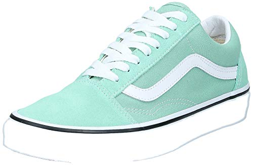 Vans Old Skool Shoes 35 EU Neptune Green True White