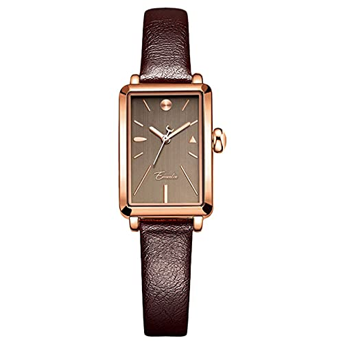 TTYYU Damas Reloj Pequeño Mesa Cuadrada Retro Simple Temperament Square Square Light Lighty Joven Reloj New Reloj Femenino(Black)