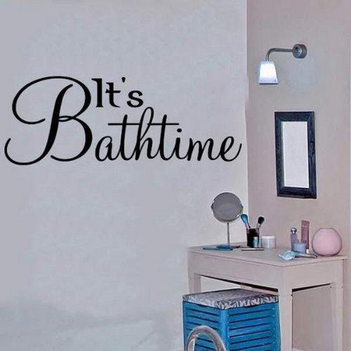 Windsor Designers Sticker Mural – Il de Bain. Décoration Murale Papier Peint Chambre Salon Cuisine, Noir, Large -Size 120cm x 40cm