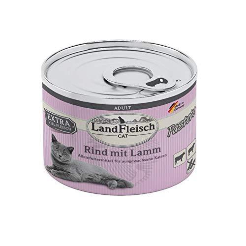 Landfleisch Cat Adult Pastete Rind&Lamm | 6X 195g Katzenfutter