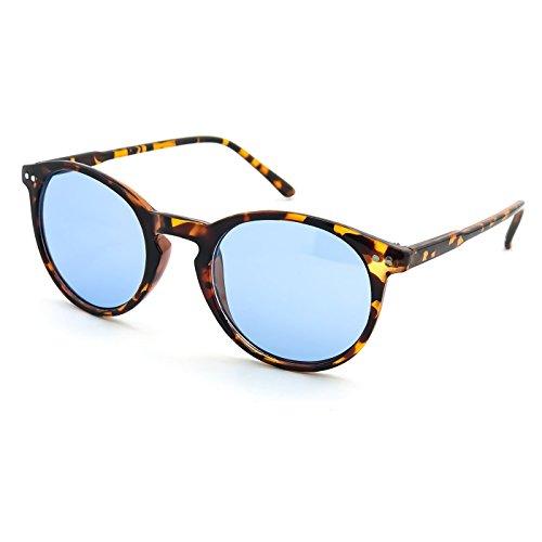 KISS Gafas de sol estilo MOSCOT mod. WAVE Johnny Depp - Cult VINTAGE Luz hombre mujer REDONDO unisex - LA HABANA/Azul