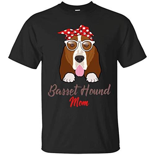 WHI-TS Neuheit Custom T-Shirt Basset Hound Mom Funny Herren's T-Shirts
