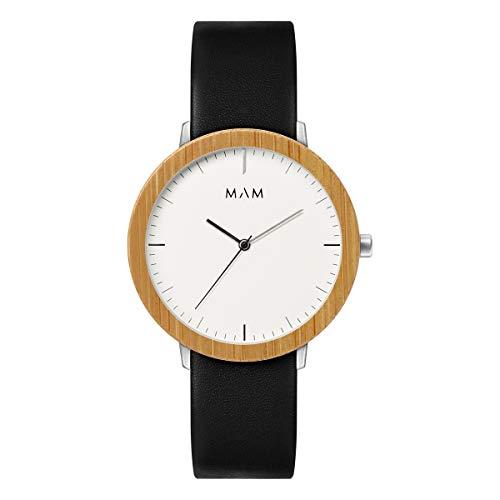 Mam Relojes ferra Reloj para Hombre Analógico de Cuarzo japonés con Brazalete de Piel de Vaca 624