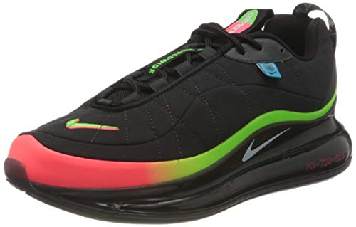 Nike MX-720-818 WW, Scarpe da Corsa Uomo, Black/White-Green Strike-Flash Crimson-Blue Fury-off Noir, 44.5 EU