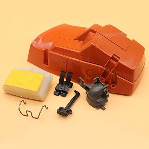Tapa de filtro de aire del cilindro superior con colector de admisión para motosierra HUSQVARNA 362 365 371 372 XP