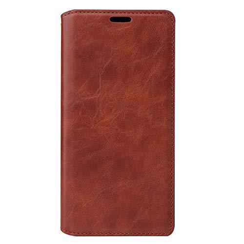Tosim Galaxy A41 Hülle Klappbar Leder, Brieftasche Handyhülle Klapphülle mit Kartenhalter Stossfest Lederhülle für Samsung Galaxy A41 - TOYTE020511 Braun