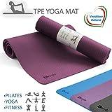 kesyle Tapis de Yoga 2.0, 100% TPE écologique et Anti-Odeur, Idéal pour la Salle de Sport, Fitness, Le Pilates, Antidérapant, épais et Pliable, Design Italien de Qualité.