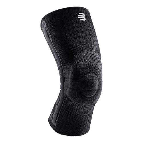 BAUERFEIND Unisex-Adult Knee Support Knie-Sportbandage, All Black, M