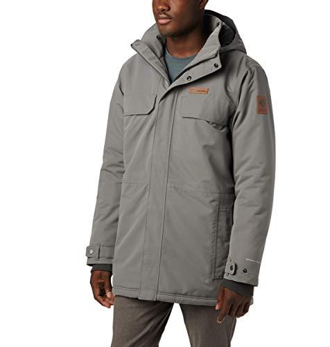 Columbia Men's Rugged Path Parka, Waterproof & Breathable, Winter Jacket, XLT, City Grey