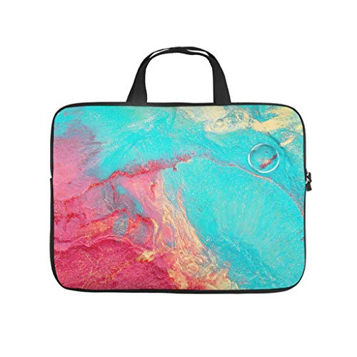 Water-Resistant Marble Texture Durable Office Bag Laptop Sleeve Case Protective Bag - for Notebook White 17 Zoll