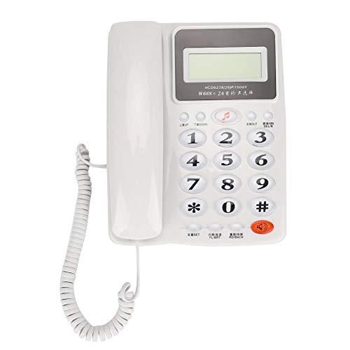 VBESTLIFE Schnurgebundenes Geschäftstelefon, FSK/DTMF-Festnetztelefon, Anrufweiterleitung, Rückruf, Freisprechfunktion mit Display für Büro, Heim und Hotel(Weiß)