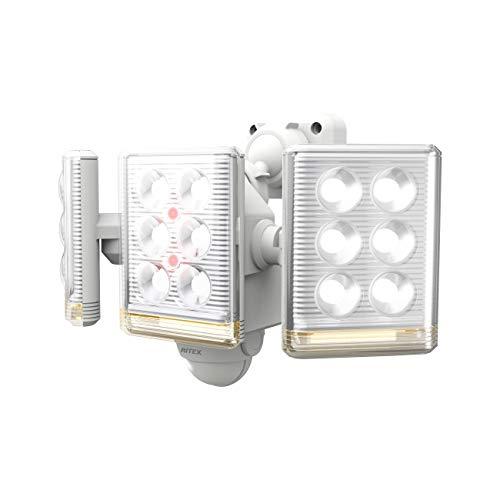 ムサシ RITEX フリーアーム式ミニLEDセンサーライト(9W×3灯) 「コンセント式」 LED-AC3027 ホワイト
