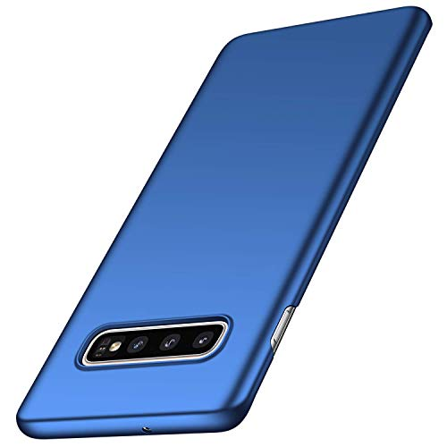 Dqtaoply Galaxy S10 Plus hoes, Galaxy S10+ case, ultradun, slank, mat, telefoonhoes, schokbestendig, polycarbonaat, hardcase, bumper, cover, shell, beschermhoes voor Samsung Galaxy S10 Plus, wikkeljurk, Galaxy S10 Plus, blauw