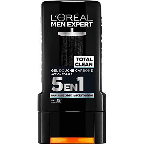 L'ORÉAL - MEN EXPERT - Gel Douche Total Clean 300Ml - Lot De 4 - Livraison Gratuite