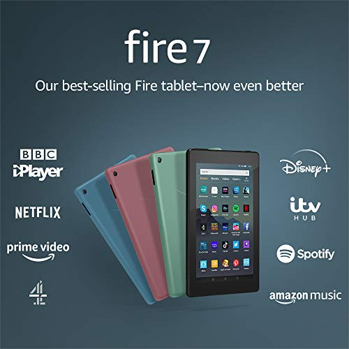 "Fire 7 Tablet | 7"" display, 16 GB, Black - with Ads"