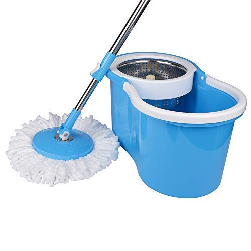 WOTRA King S310 Stainless Steel Easy Clean Spin Bucket...
