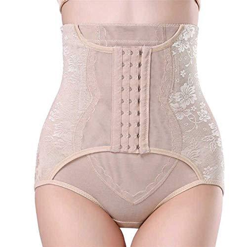 LIUJIU Damen - Pantalones cortos de contención de cintura alta con forma de contención para tanga, Abnehmen XL, color, M