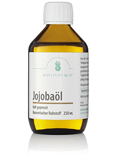 Spinnrad 250 ml Jojobaöl I Naturkosmetik selber machen I Kaltgepresst 100% Reinheit Vegan I Pflege für Haut Gesicht Körper