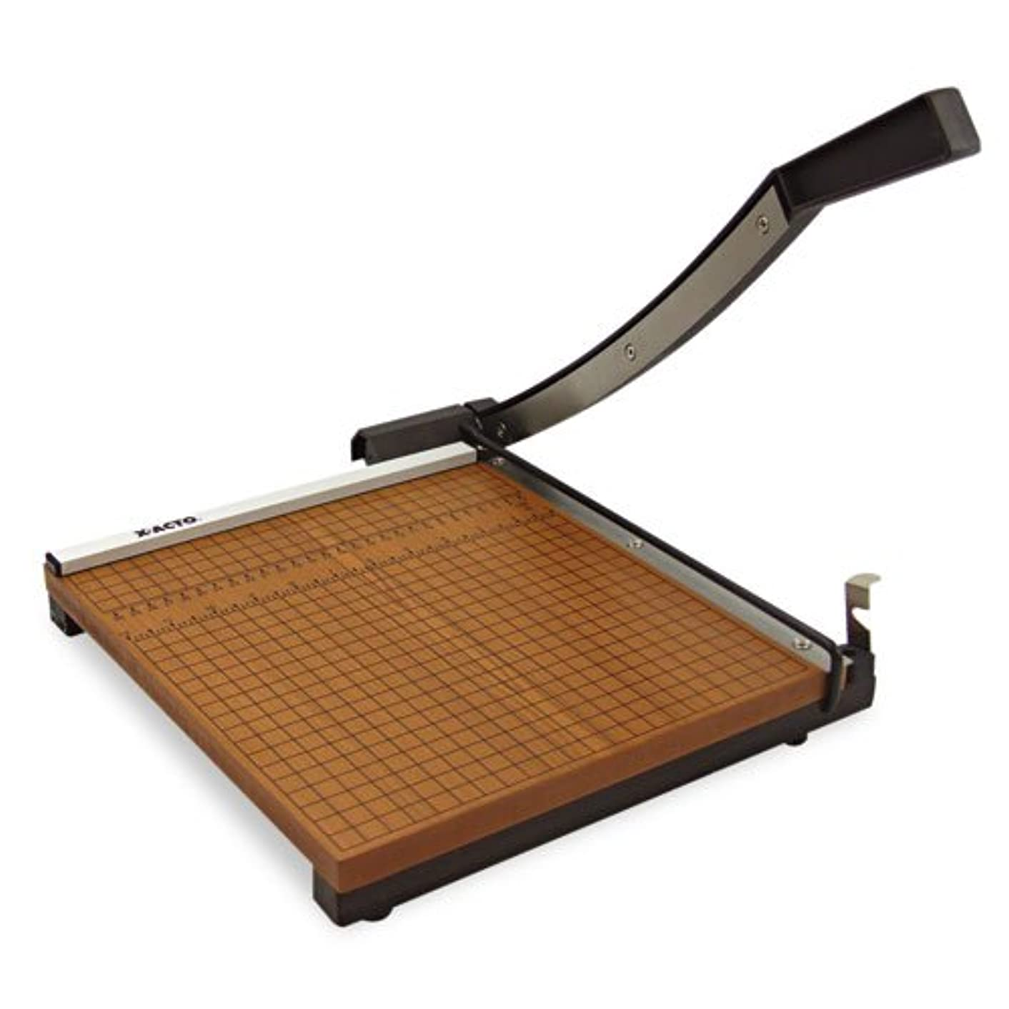 Wood Base Guillotine Trimmer, 12 Sheets, Wood Base, 12amp;quot; x 12amp;quot;