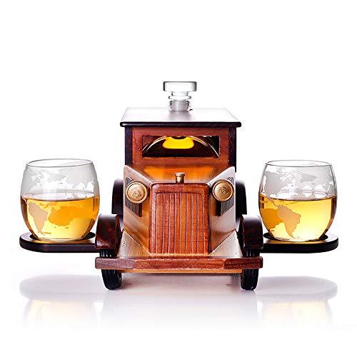 DEDECP Botella de Copa de Vino de 1000 ml, Juego de Copas de Vino, Modelo de Coche, decantador, decoración del hogar, Vaso de Whisky, contenedor de Vino de Vidrio de borosilicato Alto