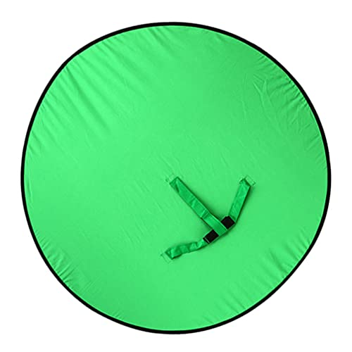 SOLUSTRE Fondo Plegable de Cámara Web de 120X120cm Fondo de Pantalla Verde para Silla Pantalla Verde para Estudio de Vídeo de Difusión en