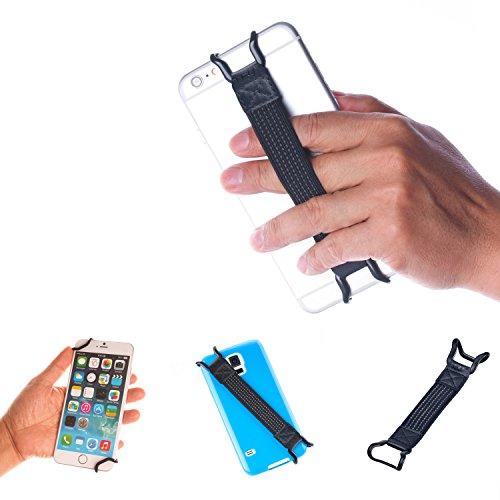 TFY Fascetta Elastica Cover per Apple iPhone e Smartphone - iPhone X / 8 / 8 Plus / 5/5(s) - 6 / 6S (Plus) - 7 / 7 Plus / SE -Samsung Galaxy S4 / S5 / S7 /S7 Edge - Galaxy Note 2 / 3 / 4 - Nexus 5 / 6 - HUAWEI Mate 9 (nero)